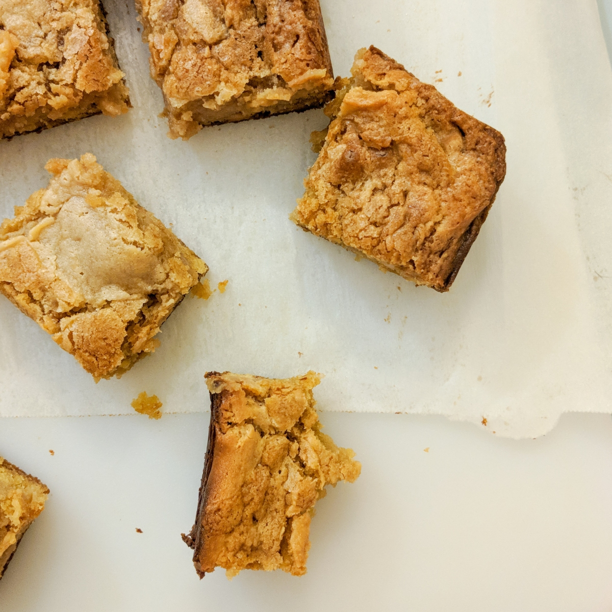 Peanut Butter Cream Cheese Blondies